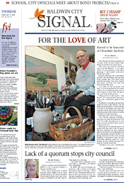 Baldwin City Signal newspaper front page