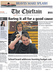 The Chieftain newspaper front page