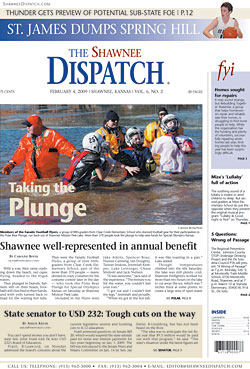 Shawnee Dispatch newspaper front page