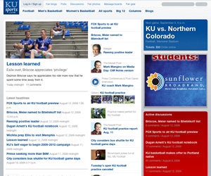 Screenshot of KUSports.com