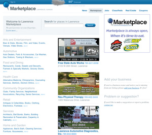 Screenshot of Marketplace